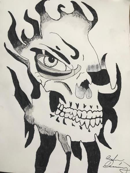 Skull Through The Flames