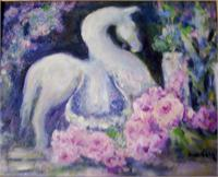 Tang Horse With Pink Roses
