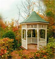 Gazebo Of Tranquility As Greeting Card