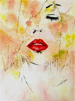 Lady With Red Lips