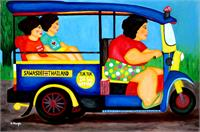 Tuk Tuk Lady As Framed Poster