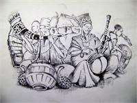 Traditional Music Men