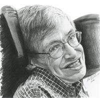 "A Timeless Smile ""Stephen Hawking"" As Framed Poster"