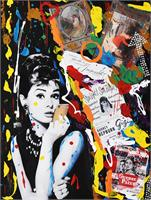 AUDREY HEPBURN Graffitis As Framed Poster