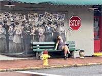 Savannah Bus Stop Photo As Poster