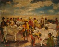 "L0010 ""Traditional Cattle Market In Java"" By Harijadi"