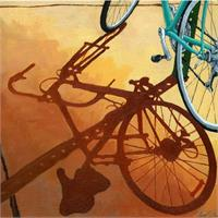 Aqua Angle - Bicycle Morning Shadows