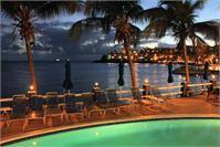 Evening Harbor Lights At Bolongo Beach Pool St Thomas Photograph By Roupen Baker