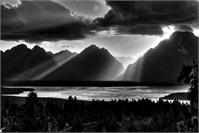 Grand Teton Light Beams