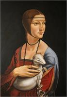 "Copy Of Leonardo Da Vinci ""Lady With An Ermine"""