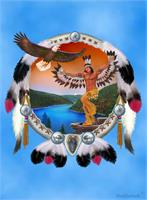 Indian Eagle Dancer As Greeting Card