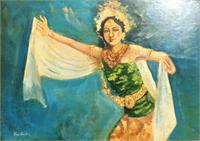 Balinesse Dancer (signed 'trubus' On The Left Bottom)