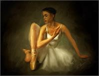 Ballerina As Framed Poster