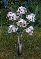 Metal Mushrooms-Stanger Moore Sculpture-small Spotted Fungi