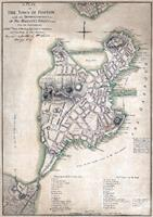 1775 Town Plan Of Boston Map As Framed Poster