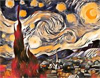 The Starry Night View 1 As Greeting Card