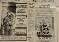 Vintage James Bond Newspaper Advertisement