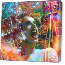 Bride Of Frankenstein As Canvas