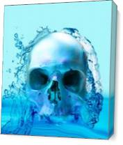 Skull In Water As Canvas