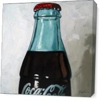 Vintage Coca Cola Bottle As Canvas