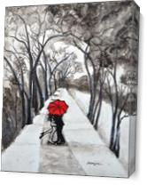Snow Kiss Romantic Painting As Canvas