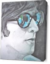 John Lennon In Colored Glass As Canvas