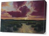 Desert Trail At Dusk As Canvas