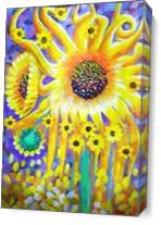The Magical Sunflower As Canvas