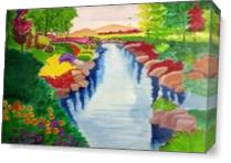 Heidi Spring Scenery. As Canvas