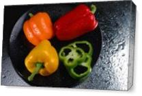 Peppers2wet As Canvas