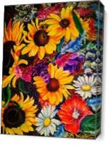 Sunflowers As Canvas