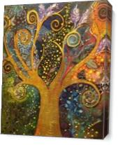 A Tree Of Life with Spirals As Canvas