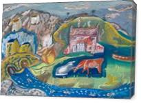 Mountain Villages - Gallery Wrap