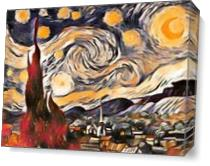 The Starry Night View 1 As Canvas