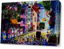 Quebec Street Screen As Canvas