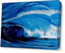 The Big Sea Wave As Canvas