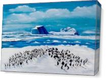 100 Penguins As Canvas