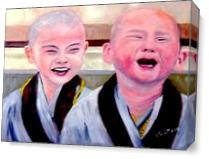 Baby Monks As Canvas