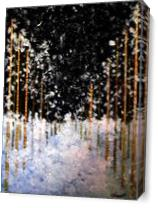 Snowing In The Forest As Canvas