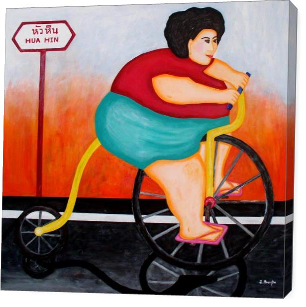 Big Cycle Lady