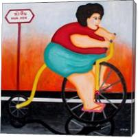 Big Cycle Lady - Gallery Wrap
