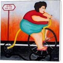 Big Cycle Lady - Standard Wrap