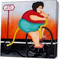 Big Cycle Lady - Gallery Wrap Plus