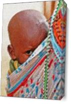 African Child As Canvas