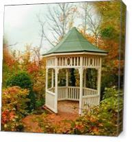 Gazebo Of Tranquility As Canvas