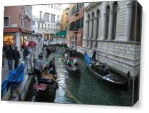 Gondolas On Venice Canal As Canvas
