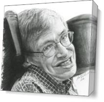 "A Timeless Smile ""Stephen Hawking"" As Canvas"